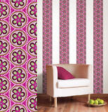 Very Berry Stripe Wall Decal Sticker Wall Decal