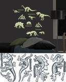 Dinosaurs Glow Wall Decal Sticker Applique Wall Decal
