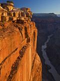 The Sun Illuminates Canyon Cliffs Above the Colorado at Toroweap Photographic Print by Derek Von Briesen