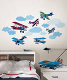 Mighty Vintage Planes Wall Art Decal Kit Decalques de parede