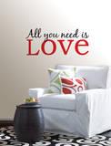 All You Need is Love Wall Art Kit Kalkomania ścienna