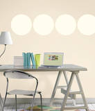 Ivory White Dot Wall Decal Sticker Wall Decal