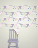 Patchwork Daisy Stripes Wall Decal Sticker Wall Decal