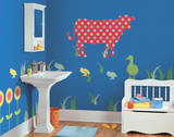 Dakota the Cow ZooWallogy Wall Art Kit Wall Decal