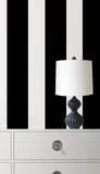ストライプ(ブラック&ホワイト)ウォールステッカー・壁用シール ウォールステッカー