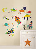 Blast Off Wall Art Decal Kit Wall Decal