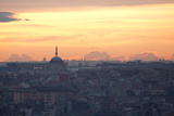 Cityscape of Istanbul at Sunset Photographic Print by Alex Saberi