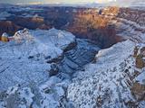 Snow Covers Grand Canyon at Navajo Point Photographic Print by Derek Von Briesen