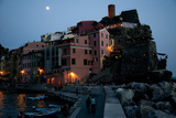 The Town of Vernazza at Night Photographic Print by Matt Propert