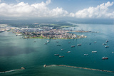 Aerial View of Limon Bay and the Port of Colon, Panama Photographic Print by Jonathan Kingston