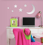 Moon & Stars Wall Mirror Decal Sticker Wall Decal