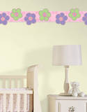 Poppies Stripe Wall Decal Sticker Wall Decal