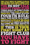 Fight Club - 8 Rules Affiches