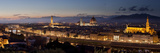 A Panoramic Shot of Florence at Dusk Fotografisk tryk af Stephen Alvarez