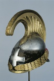 Italian Metal Cavalry Helmet with Officer's Cross, 19th Century Photographic Print
