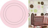 Gigi Pink Concentric Dot Wall Decal Sticker Wall Decal