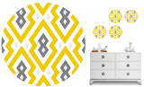 Aztec Diamond Dot Wall Decal Sticker Wall Decal