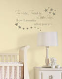 Twinkle, Twinkle Nursery Rhymes Wall Decal Sticker Decalques de parede