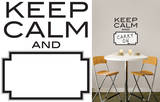 Keep Calm Dry Erase Wall Decal Sticker Quote Wall Decal
