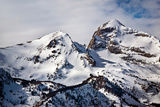 Towering Peaks From the Teton Range Covered in Snow in Early Spring Photographic Print by Josh Howard