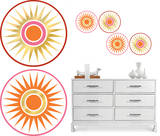 Geo Circles Dot Wall Decal Sticker Wall Decal