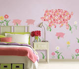 Scarlett the Pig ZooWallogy Wall Art Kit Wall Decal