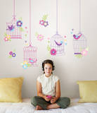 Chirping The Day Away Wall Art Decal Kit Wall Decal