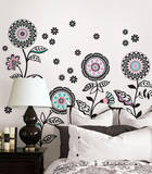 Floral Medley Large Wall Art Decal Kit Wall Decal