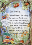 Dear Teacher Poster by Lila Rose Kennedy