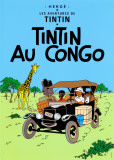 Tintin au Congo, c.1931 Plakater av  Hergé (Georges Rémi)