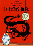 El loto azul (1936) Arte por Hergé (Georges Rémi)