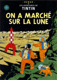 Tintti kuun kamaralla (On a March sur la Lune), noin 1954 Posters tekijn Herg (Georges Rmi)