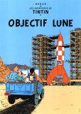 Reiseziel Mond, ca. 1953 Poster von  Hergé (Georges Rémi)