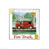 Fire Truck Art by Lila Rose Kennedy