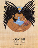 Gemini (May 21-Jun 21) Print by Orah-El