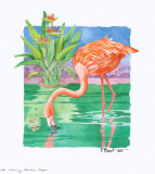 Flamingo Paradise  Repose Art by Paul Brent