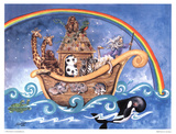 Noah's Ark Art by Lila Rose Kennedy