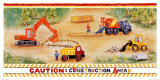 Construction Ahead Poster by Lila Rose Kennedy