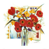 Red Poppies in Vase Kunstdrucke von Alfred Gockel