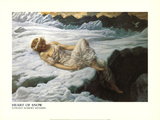Heart of Snow Prints by Edward Robert Hughes