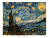 Sternennacht Poster von Vincent van Gogh