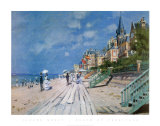 Beach at Trouville Art by Claude Monet