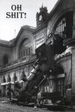 Shit! - Gare Montparnasse Print