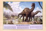 Dicraeosaurus Dinosaur Poster