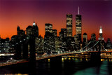 New York, New York - Brooklyn Bridge Posters