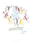 Dans van de jeugd Print van Pablo Picasso