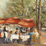 Lunch on the Champs Elysees Posters by Marilyn Hageman