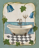 Bell Flower Bath I on Ivory Posters by Silvia Vassileva