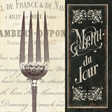 French Menu II Affiches