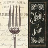 French Menu II Kunstdrucke von  Pela